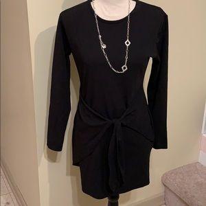 Boohoo long sleeve black dress
